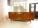 American Walnut 9 x drawer Credenza with Diamond Sculptured front, Fully restored 1880L x 480D x 780H