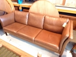 Danish Vintage 3 seat sofa in fine calf leather