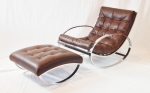 Chrome Rocker and footstool