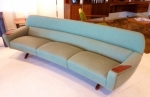 DANISH 4 SEATER CURVED SOFA & MATCHING ARMCHAIR