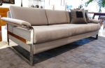 Stunning chrome framed sofa designed by Milo Baughman
