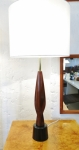 Lovely sculpture formed lamp with new shade and wiring