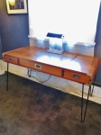 Utility table or low desk on hairpin legs USA 1950
