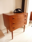 Small Danish modern chest of drawers 615L x 380D x690H