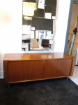 Tambour door teak low sideboard 