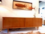 Danish Oak Sideboard by Oman Jun Circa 1960's 2100L X 475D X 720