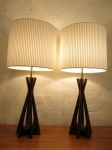 Beautiful Walnut table lamps with multi-leg design