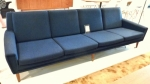 4 seat Danish Vintage Sofa with matching armchair