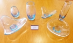 Various Holmegaard glass pieces