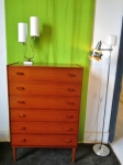 Fully restored set of teak drawers