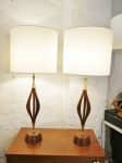 Pair of American Mid-Century table lamps