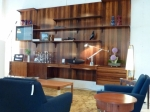 Stunning Danish Rosewood five panelled Floating Wall Unit system Circa 1950's 4150L x 480D x 2410H