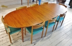 Beautifully restored double extension table by Parker circa 1960