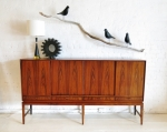 Beautifully grained Brazilian Rosewood tall credenza