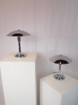 Pair of chromed table lamps