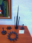 Assorted cast iron candle holders by Jen Quistgaard and Others