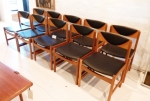 Danish set of 10 Oak Dining Chairs