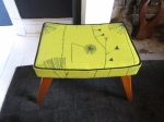 Australian made blonde-wood footstool
