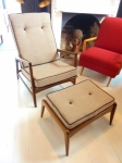 Danish Armchair & matching footstool