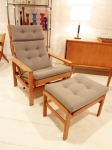 Borge Mogensen Oak Recliner Chair and footstool