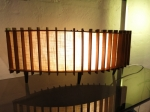Delicate teak Mid-Century lamp.
