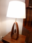 American Mid-Century Modern Wooden Lamp