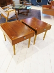 Pair of American Mid-Century side-tables with drawer