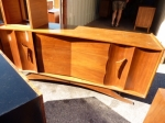 Beautiful 3 drawer - 2 door Credenza in American Walnut, Fully restored 1980L x 485D x 800H