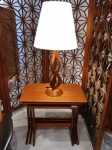 Nest of tables in teak - fully restored