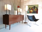 English sideboard with incredible Rosewood hand painted finish