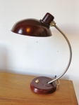 Oxblood Bakelite and metal task lamp