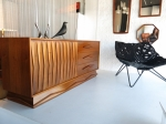 American Mid-Century sculptural credenza