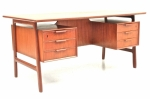 Danish  Teak desk by Oman Jun