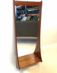 Danish Teak mirror with shelf.