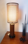AMERICAN 1950's LAMP WITH ORIGINAL DOUBLE SHADE