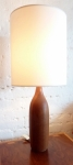 AMERICAN STAVED TEAK BOTTLE SHAPED LAMP