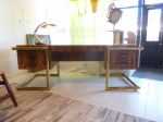 BESPOKE DESK IN ZEBRANO & BRASS