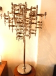 HUGE CANDLEHOLDER SCULPTURE ON STAND