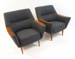PAIR OF PAUL KAFKA ARMCHAIRS (PART OF 3 PIECE SUITE)