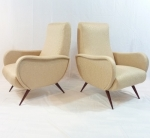 PAIR OF ITALIAN 1950's ARMCHAIRS