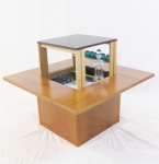 DANISH COFFEE TABLE WITH POP-UP BAR SECTION